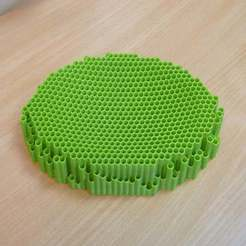 P1080085.JPG Download free SCAD file Honeycomb Hexagonal pattern soap dish tray • Model to 3D print, Steve_rLab