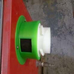 P1070892.JPG Télécharger fichier SCAD gratuit Armoire de sablage PowerKing SBC1 - Raccord du système d'extraction de poussière rLab • Design pour imprimante 3D, Steve_rLab