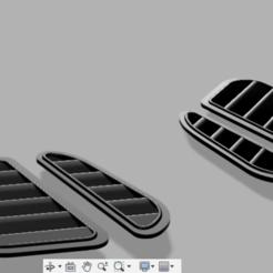 7.PNG Download 3MF file BMW E36 Bonnet Hood GTR DTM Grills • 3D printer template, Kezian3D