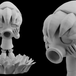 main.jpg Download STL file  Deku Link Majoras Mask Statue Download 3D print Model STL files Statue Figure digital pattern 3D printing The Legend of Zelda Nintendo • 3D printable model, BlueAzureArt
