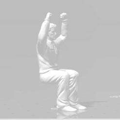 sentado manos levantadas 5.png Download STL file Man sitting 2 Arms Raised man seated Diorama • 3D printable object, moviemasterdvd
