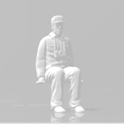 Snapshot_1.png Download STL file Man sitting 2 Arms to the side man seated Diorama • 3D printer template, moviemasterdvd
