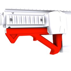 LOGO.jpg Download STL file Gryphon Carbine Angled Foregrip (Branded) • Design to 3D print, Fancy_Impact_Blasters
