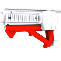 No Logo.jpg Download STL file Gryphon Carbine Angled Foregrip (None Branded) • 3D printer model, Fancy_Impact_Blasters