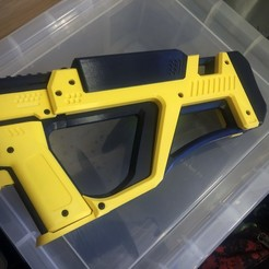 cyclops.jpg Download STL file Gryphon Extended Thumbhole Stock • 3D printable design, Fancy_Impact_Blasters