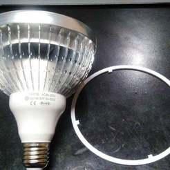 IMG_20180808_112856.jpg Télécharger fichier STL gratuit Base PAR 38 LED GOW LIGHT • Modèle à imprimer en 3D, amacedo2020