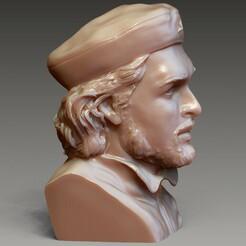 Ch 5.jpg Download 3MF file Che Guevara Portrait • Model to 3D print, Willo
