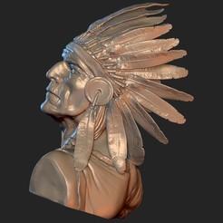ZBrush Document 21.jpg Télécharger fichier 3MF Les Amérindiens sont fiers • Design à imprimer en 3D, Willo