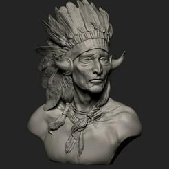 4.jpg Download OBJ file American Native Warrior 3D print model • 3D printing model, Willo