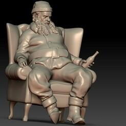 3.jpg Download OBJ file Santa Claus Tired Drinking • Design to 3D print, Willo