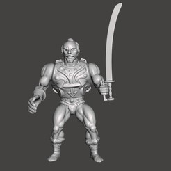 01_JITSU.jpg Download STL file JITSU MOTU VINTAGE ACTION FIGURE (COMPLETE) • 3D printable design, VintageToysMG