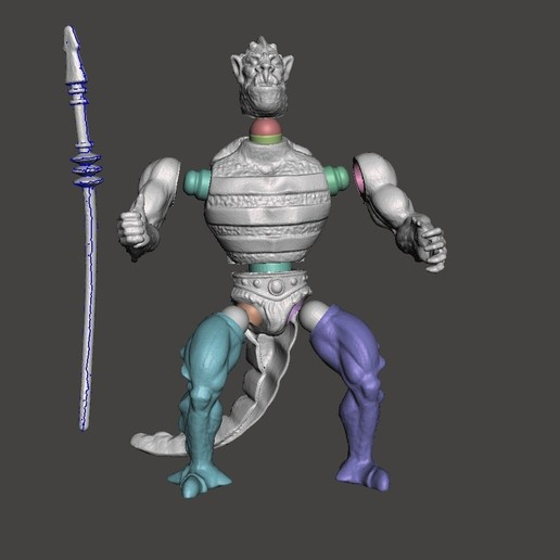 05_whiplash.jpg Download STL file WISPLASH MOTU ACTION FIGURE VINTAGE (COMPLETE) • 3D printable design, VintageToysMG