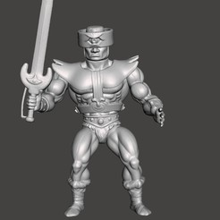 01_TRIPCLOPS.jpg Download STL file TRIPCLOPS MOTU VINTAGE ACTION FIGURE (COMPLETE) • 3D printable template, VintageToysMG