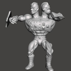 01_TB.jpg Download STL file TWO BAD MOTU VINTAGE ACTION FIGURE (COMPLETE) • 3D print template, VintageToysMG