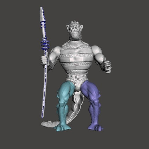 01_whiplash.jpg Download STL file WISPLASH MOTU ACTION FIGURE VINTAGE (COMPLETE) • 3D printable design, VintageToysMG