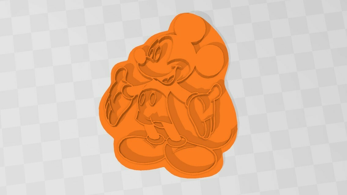 MIKEY CORTANTE DISEÑO.jpg Download STL file Mickey Mouse- cookie cutter • Design to 3D print, Mercury-Dragon