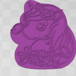 unicornio-imagen.jpg Download STL file Cookie Cutter- Unicorn • 3D printer object, Mercury-Dragon