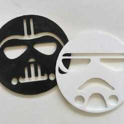 posavaso.jpg Download STL file Star Wars Darth Vader+StormTrooper Coasters • 3D printing design, Mercury-Dragon