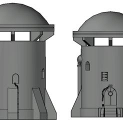 Screenshot 2020-10-31 at 14.07.07.png Download STL file Star Wars Legion Tatoonie Tower • 3D printer model, Hami9209