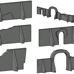 Screenshot 2020-10-31 at 15.15.09.png Download STL file Star Wars Tatoonie Compound Walls • 3D printable object, Hami9209