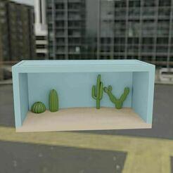 4.JPG Télécharger fichier STL gratuit Boîte modulaire Hot Wheels (Désert) • Objet à imprimer en 3D, Pixel3D