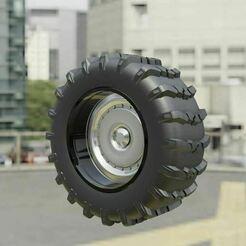 1a.JPG Download free STL file Snow Tire + Wheel 1 • 3D printable design, Pixel3D