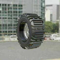 3b.JPG Download free STL file Snow Tire + Wheel 3 • 3D print template, Pixel3D