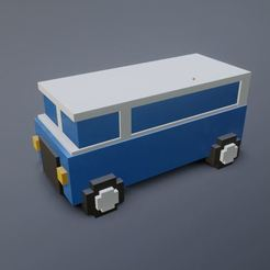 Bus front2.JPG Download STL file 3d Pixel Bus • 3D printing design, Pranking3d