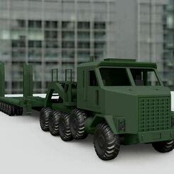 789.JPG Download STL file Oshkosh M1070 Cabin • 3D printable template, Pixel3D