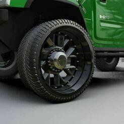 01.JPG Télécharger fichier STL Roue pour camion de douane • Objet pour imprimante 3D, Pixel3D