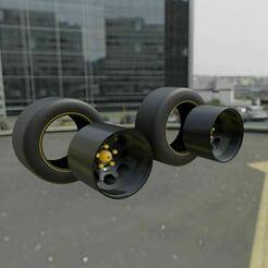 234234454555.JPG Download STL file Nascar Wheels for Hot Wheels! • Object to 3D print, Pixel3D