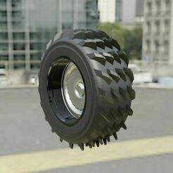 2b.JPG Download free STL file Snow Tire + Wheel 2 • Design to 3D print, Pixel3D
