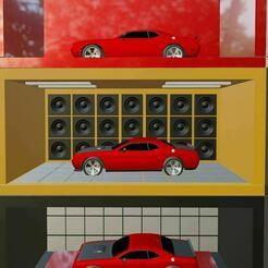 90-0-=.JPG Télécharger fichier STL Boîte modulaire Hot Wheels (salle de sonorisation) • Modèle à imprimer en 3D, Pixel3D