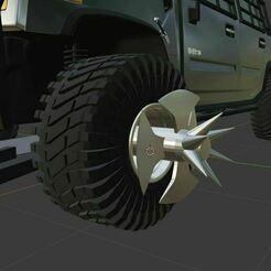 56456.JPG Download free STL file Gaslands/Mad Max wheel • 3D print design, Pixel3D