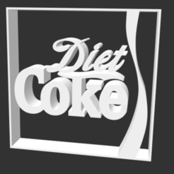 cokediet.jpg Download STL file Coke logo • 3D printer template, gracielaylla
