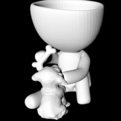 img1.jpg Download STL file Robert plant whit dog • Object to 3D print, gracielaylla