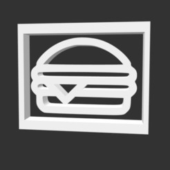 hmmm.jpg Download STL file Hamburger logo • 3D print template, gracielaylla