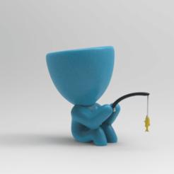 KeyShot 9.3 Demo  - untitled.bip  - 64 bit 18_12_2020 18_12_39.png Télécharger fichier STL PÊCHEUR EN POT • Plan imprimable en 3D, ezequielromero46
