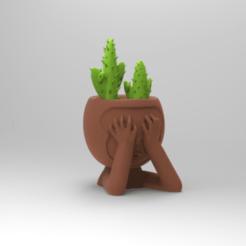 KeyShot 9.3 Demo  - untitled.bip  - 64 bit 28_12_2020 14_01_00.png Télécharger fichier STL Pot de singe aux yeux bandés • Objet à imprimer en 3D, ezequielromero46