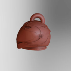 KeyShot 9.3 Demo  - untitled.bip  - 64 bit 26_10_2020 1_16_20.png Download STL file llavero casco gothic Valentino Rossi • 3D printer object, ezequielromero46