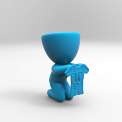 KeyShot 9.3 Demo  - untitled.bip  - 64 bit 25_11_2020 18_34_06.png Download STL file maceta diego maradona 10 • 3D printing design, ezequielromero46