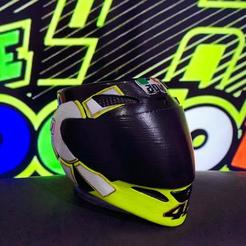 casco rossi pintado 1.jpg Download STL file mate casco gothic valentino rossi • 3D printer design, ezequielromero46