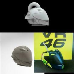 pack.jpg Télécharger fichier STL pack vr46 casque soleluna LLAVERO, MATE ET CASQUE • Plan pour imprimante 3D, ezequielromero46