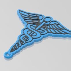 Caduceus.jpg Télécharger fichier STL Porte-clés Caducée • Design imprimable en 3D, The_Rocketeer