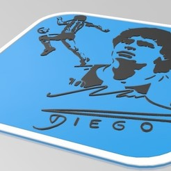 2.jpg Télécharger fichier STL Diego Maradona • Plan à imprimer en 3D, The_Rocketeer