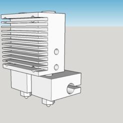 chimera_hotend.PNG Télécharger fichier STL gratuit Modèle de base Chimera+ refroidi par air • Design à imprimer en 3D, menissalt