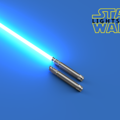 9703302f-f8ab-40ba-8d20-b0cb5d86f40e.PNG Download free STL file Creation Star Wars Lightsaber with kyber crytal • 3D print design, THEOR1320