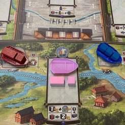 Boats.jpeg Download free STL file Gugong Board Game Boat • 3D printing design, greendog99