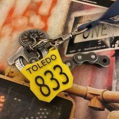 v833.jpg Download STL file number holder motocross mx fmx enduro, key chain • 3D printable template, moto_lalo