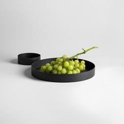 putitonaplategrapes.jpg Télécharger fichier STL gratuit Mettez-le sur une assiette • Plan à imprimer en 3D, alex_boem
